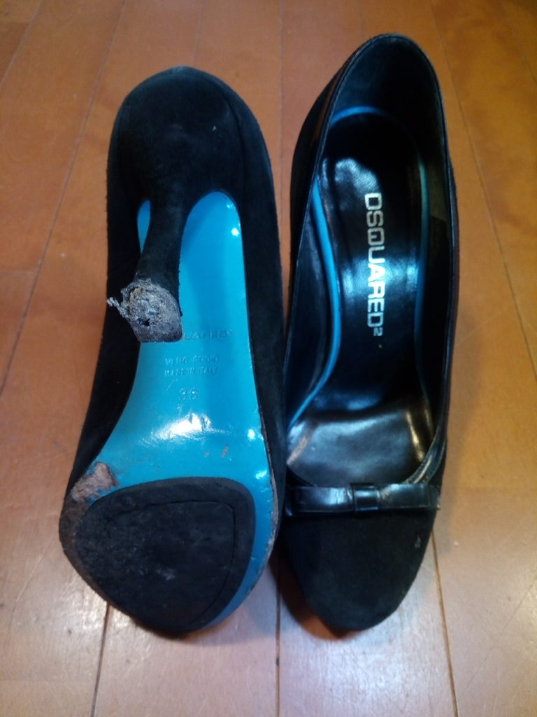 DSQUARED2のレディースハイヒールの靴修理3