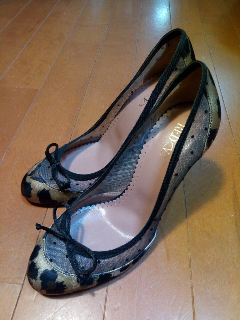 靴修理品165:レディースパンプスのゴム半張りの靴修理
