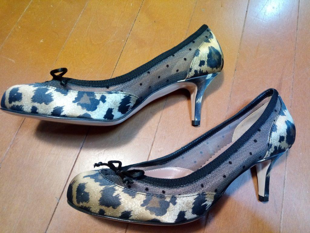 靴修理品164:レディースパンプスのゴム半張りの靴修理