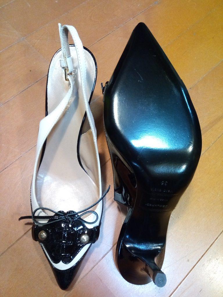 DSQUARED2のレディースハイヒールサンダルの靴修理6