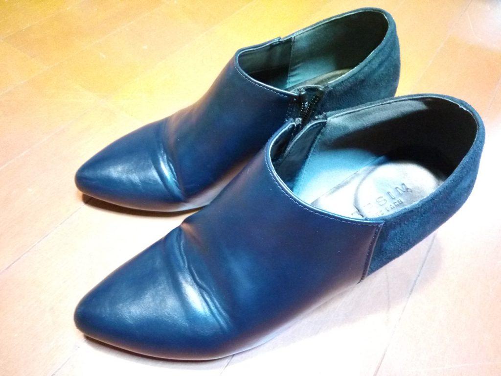 靴修理品158:レディースブーツのトップリフト交換の靴修理