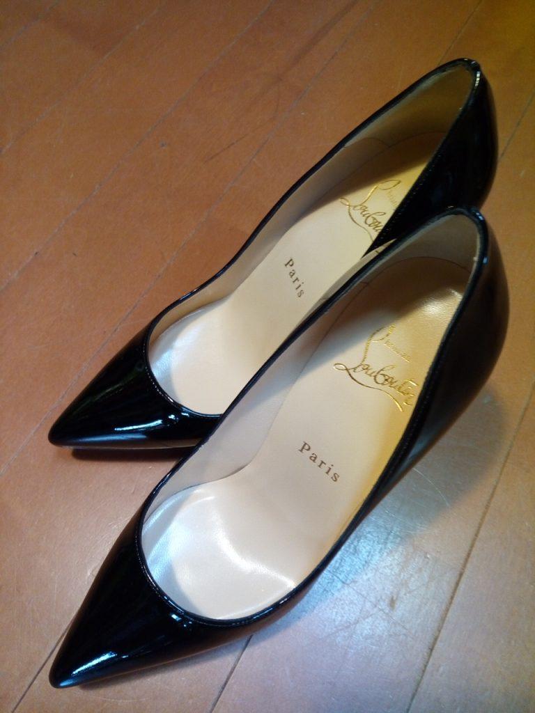 レディース・ハイヒールのゴム半張りの靴修理