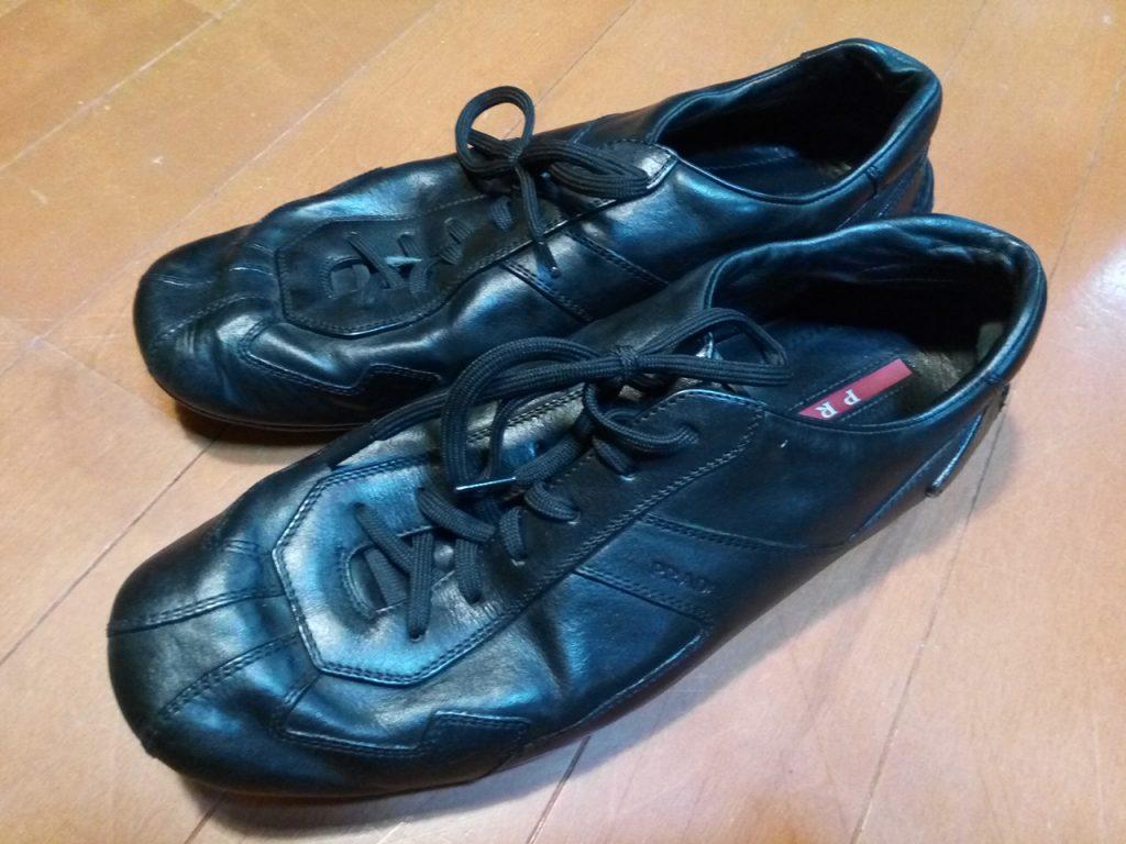 靴修理品169:ドライビングシューズのつま先部分の補修の靴修理