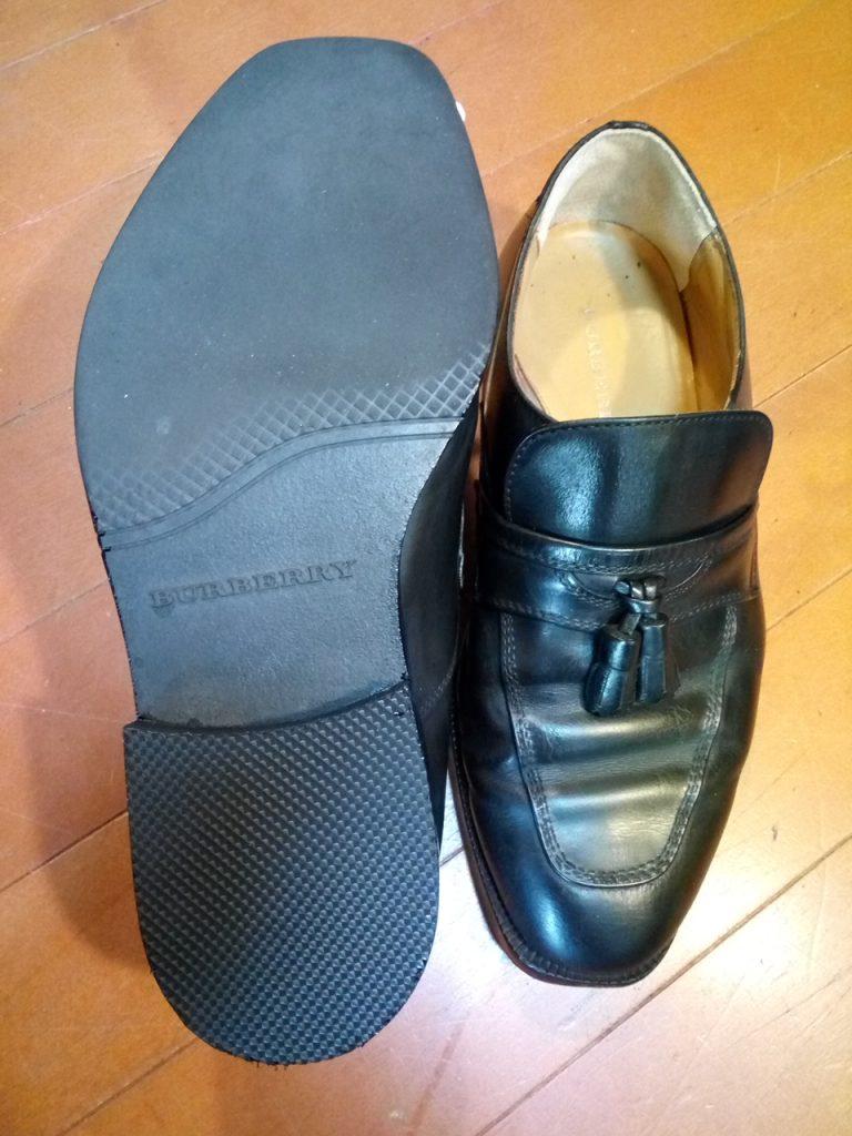 メンズシューズのトップリフト交換&かかと内側補修の靴修理