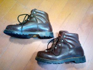 レディースの登山靴が大きい
