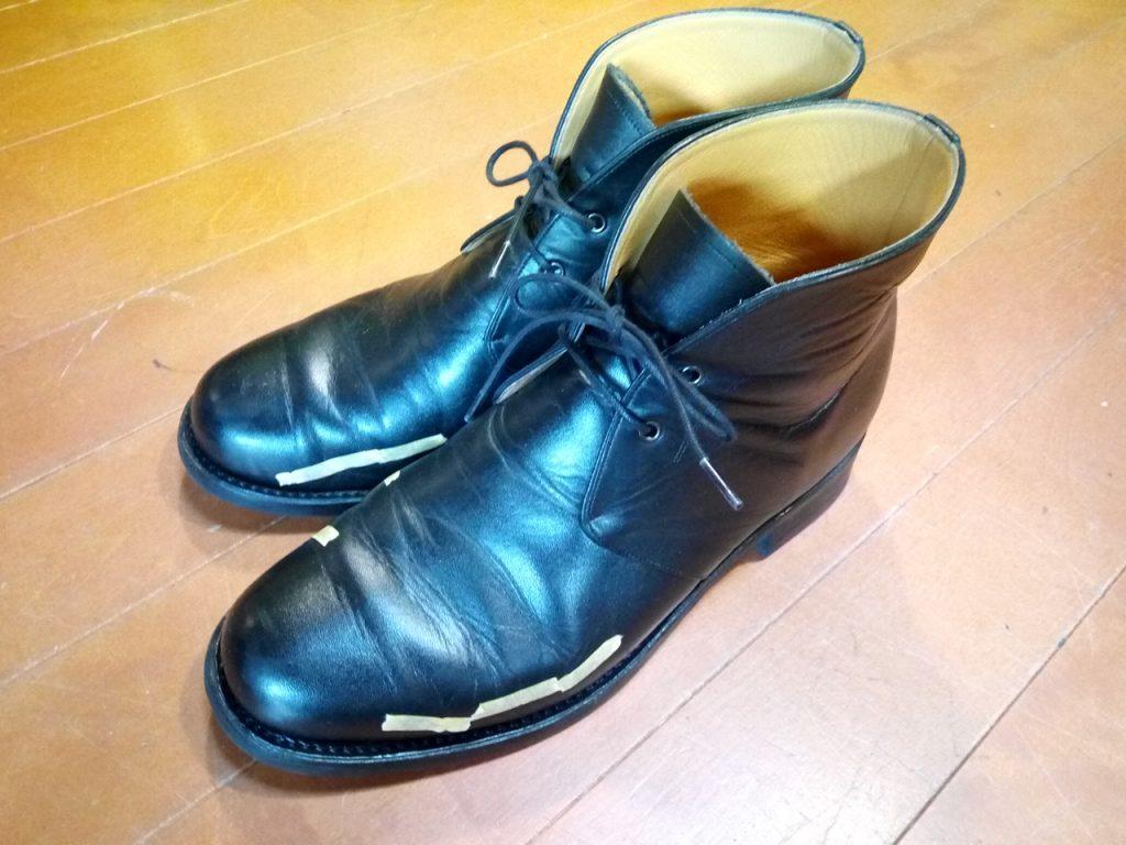 キツイ・小さい靴の幅出し靴修理34