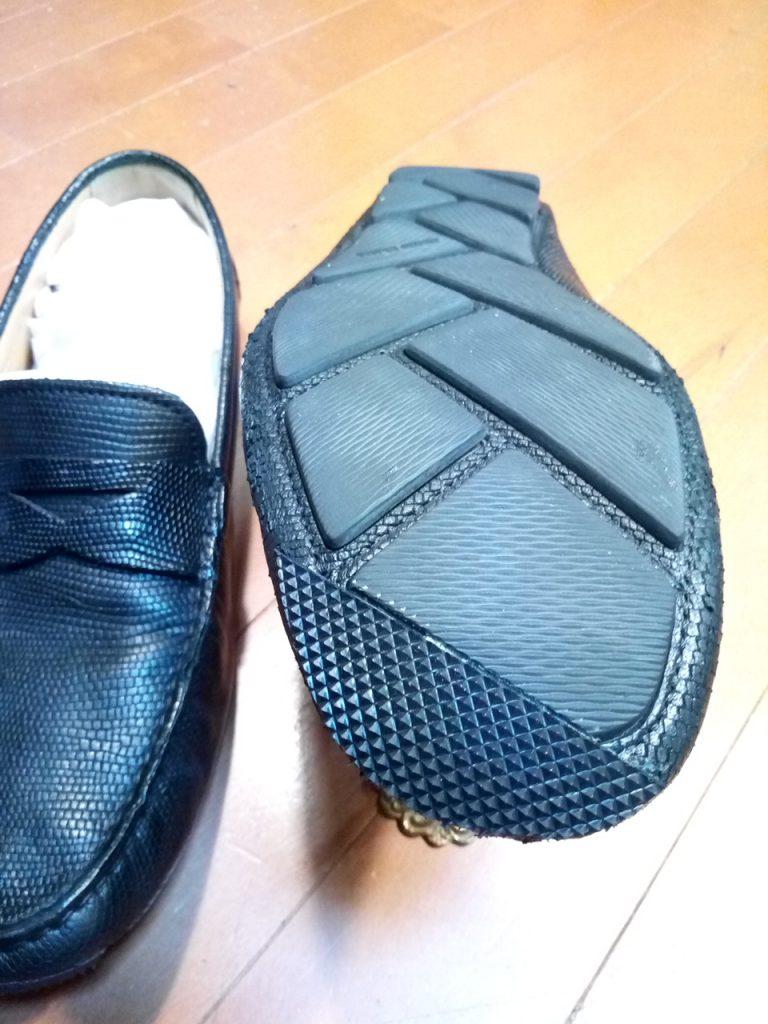 ドライビングシューズのつま先補修の靴修理