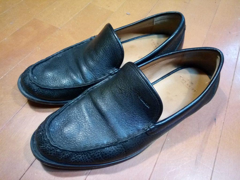 コーチのローファーのオールソールの靴修理