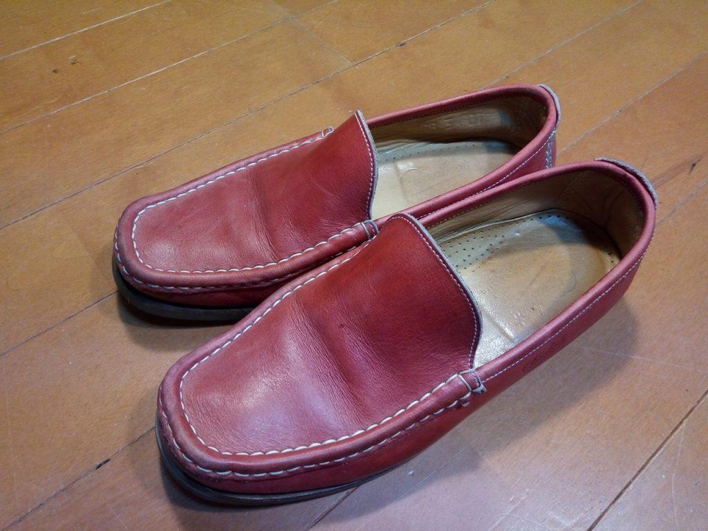 レディース・パラブーツのローファー丸洗い&ゴム半張り&色補修の靴修理