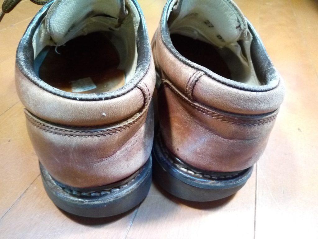 チロリアンシューズのオールソール&色補修の靴修理