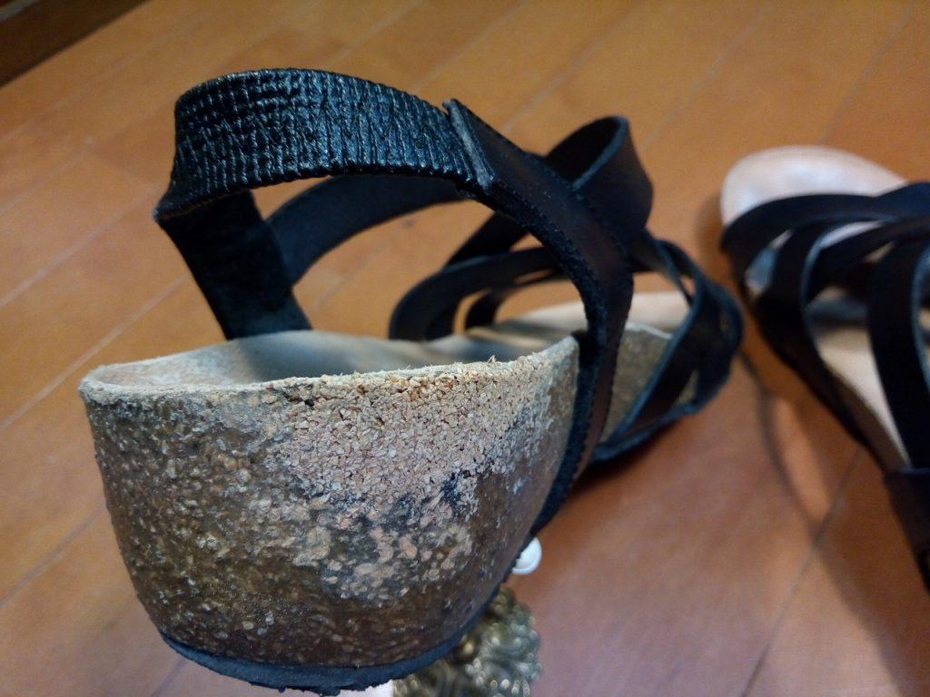 レディース・コルクソールの補修の靴修理