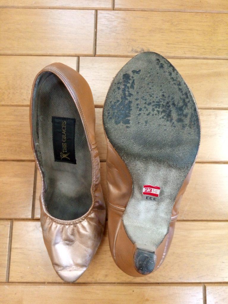 ダンスシューズの靴修理3:ダンスシューズのソール補修の靴修理