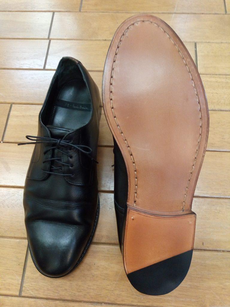 ポールスミスのビジネスシューズのオールソールの靴修理