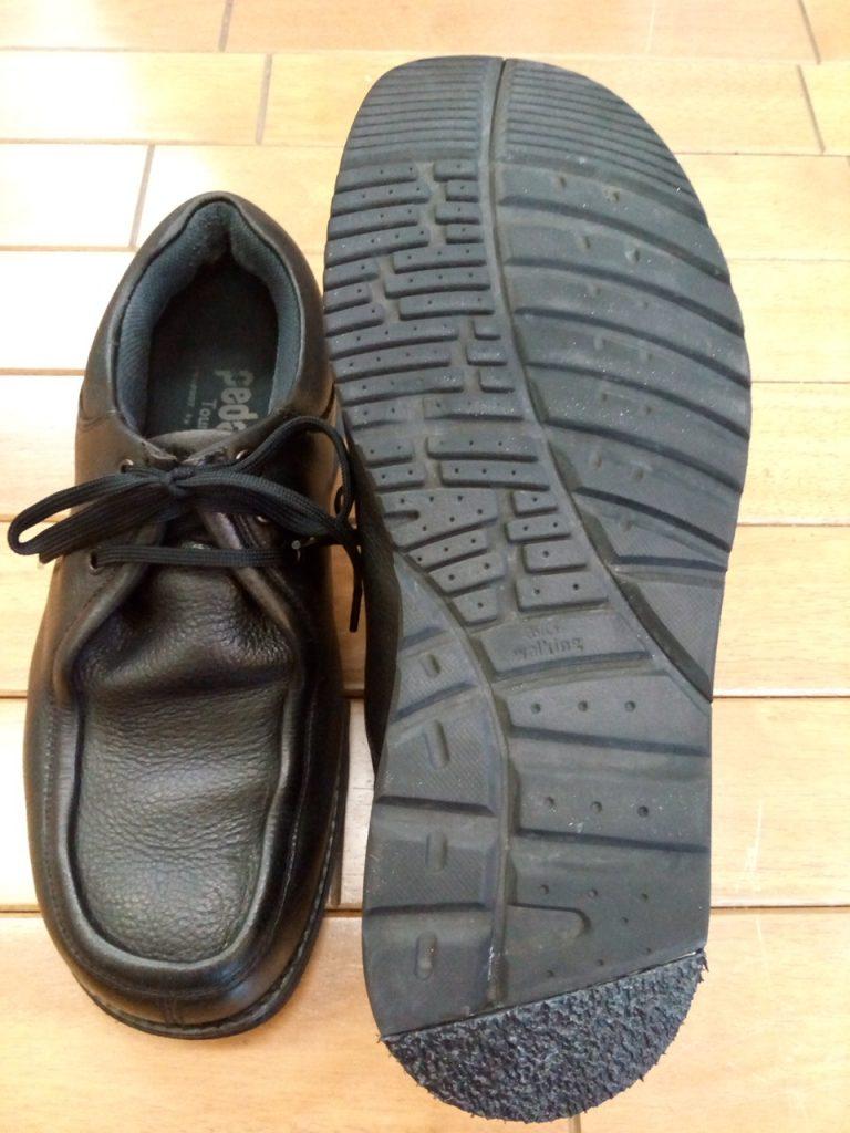 メンズウォーキングシューズの丸洗い&かかとの部分補修の靴修理