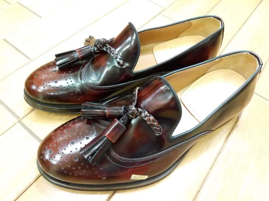 キツイ・小さい靴の幅出し靴修理46