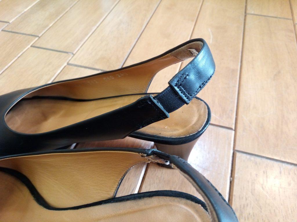 レディースサンダルのゴム交換&トップリフト交換の靴修理