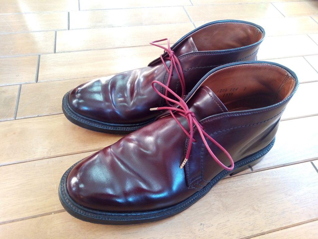 オールデンのトップリフト交換の靴修理