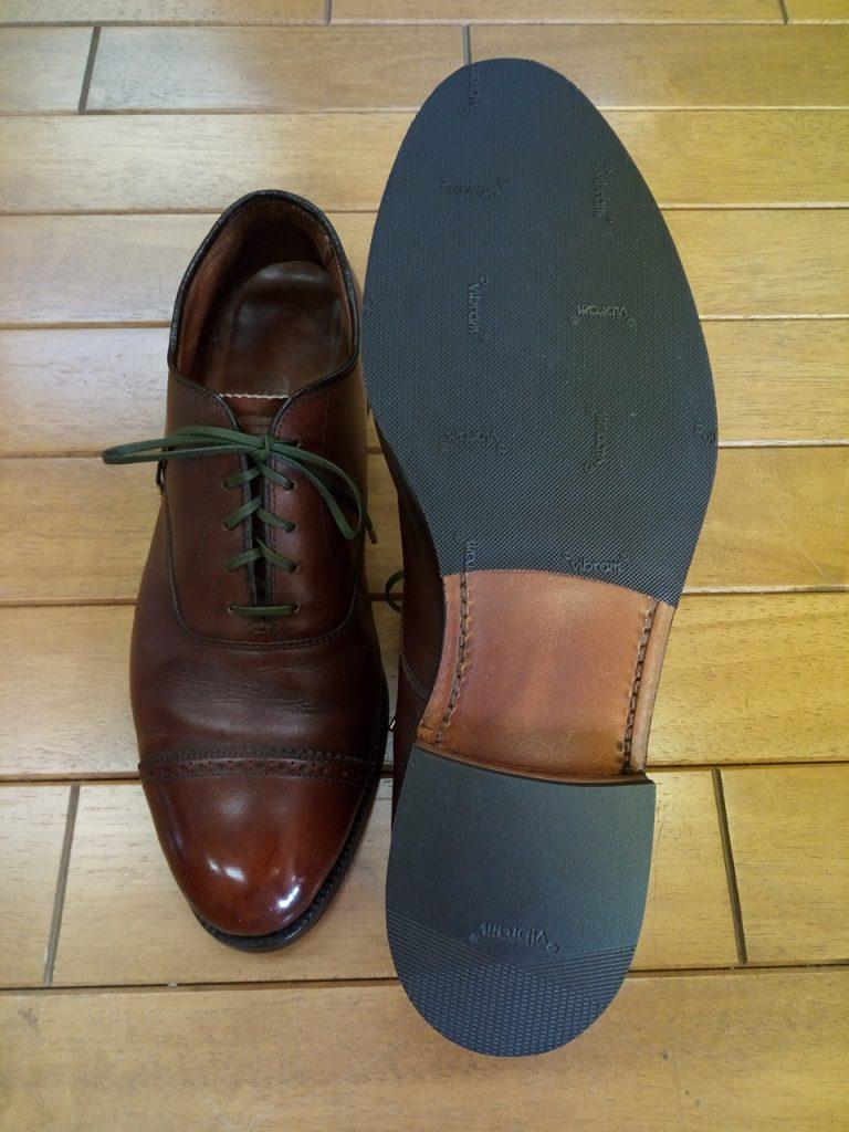 オールデンのオールソール交換の靴修理