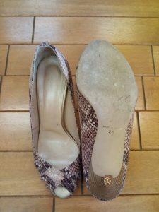 サンダルのピンヒール交換の靴修理