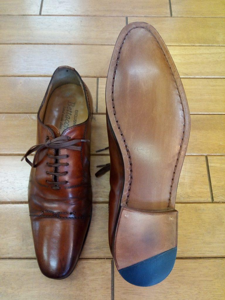 メンズシューズのマッケイオールソールの靴修理
