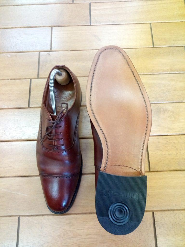スコッチグレインのグッドイヤーオールソールの靴修理