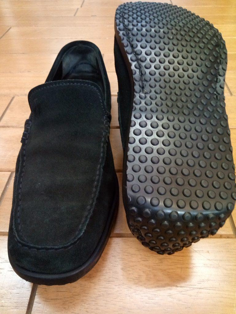 トッズのドライビングシューズのオールソールの靴修理