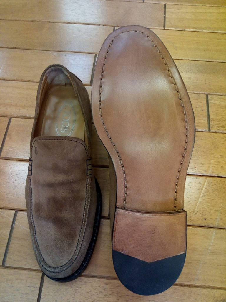 トッズのオールソールの靴修理