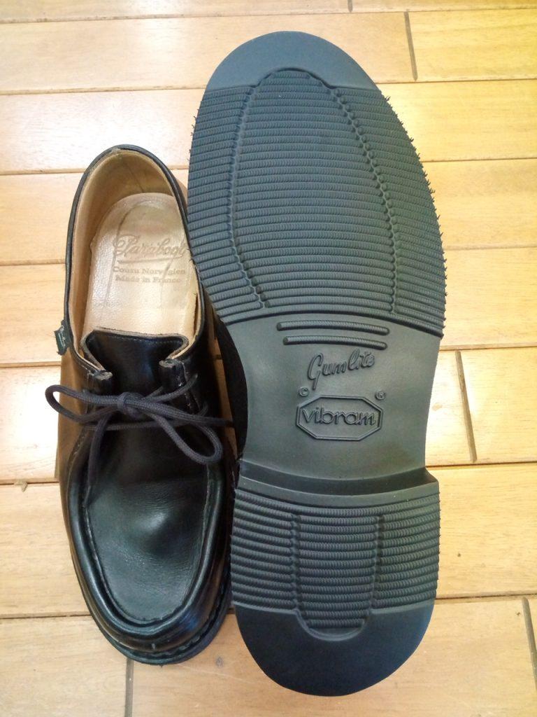 パラブーツのオールソールの靴修理