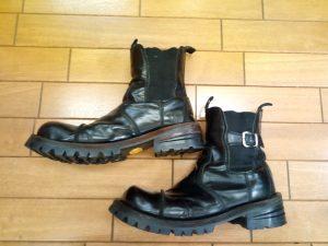 エンジニアブーツのオールソールの靴修理
