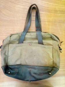ラルフローレンのカバンの丸洗い&破れ補修の鞄修理