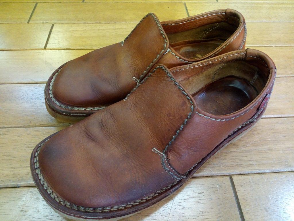 クレープソールのオールソール&ゴム交換&ステッチ補修&丸洗いの靴修理