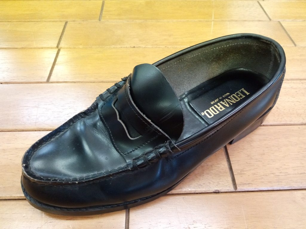 ローファーのビーフロール糸ほつれの靴修理