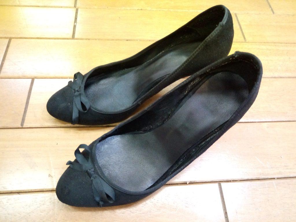 パンプスのインソール交換&トップリフト交換の靴修理