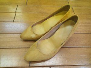 ブカブカパンプスのサイズ調整&部分ストレッチの靴修理