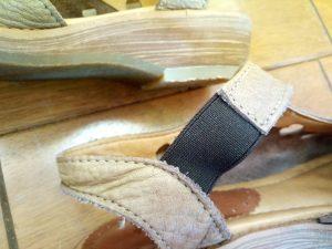 サンダルのゴム交換&ソール補修の靴修理