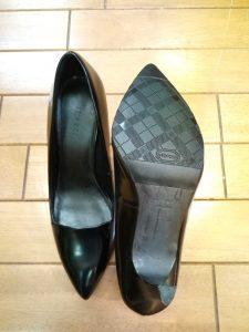 パンプスのゴム半張りの靴修理