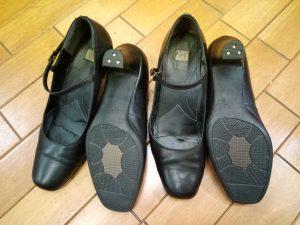 レディース・パンプスのトップリフト交換&アッパー補修の靴修理