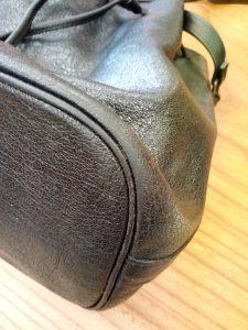 レディース・バッグの革のスレ補修の鞄修理
