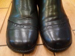 レディースブーツのコバ&アッパー補修の靴修理