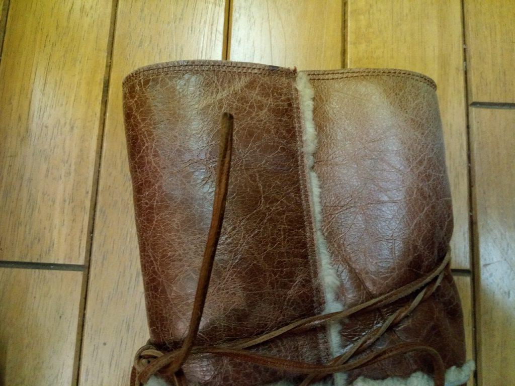 レディースロングブーツの補色の靴修理