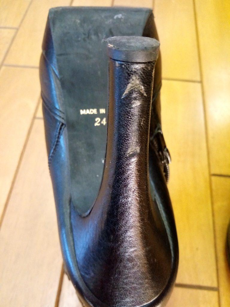 レディースブーツのトップリフト交換&アッパー補修の靴修理