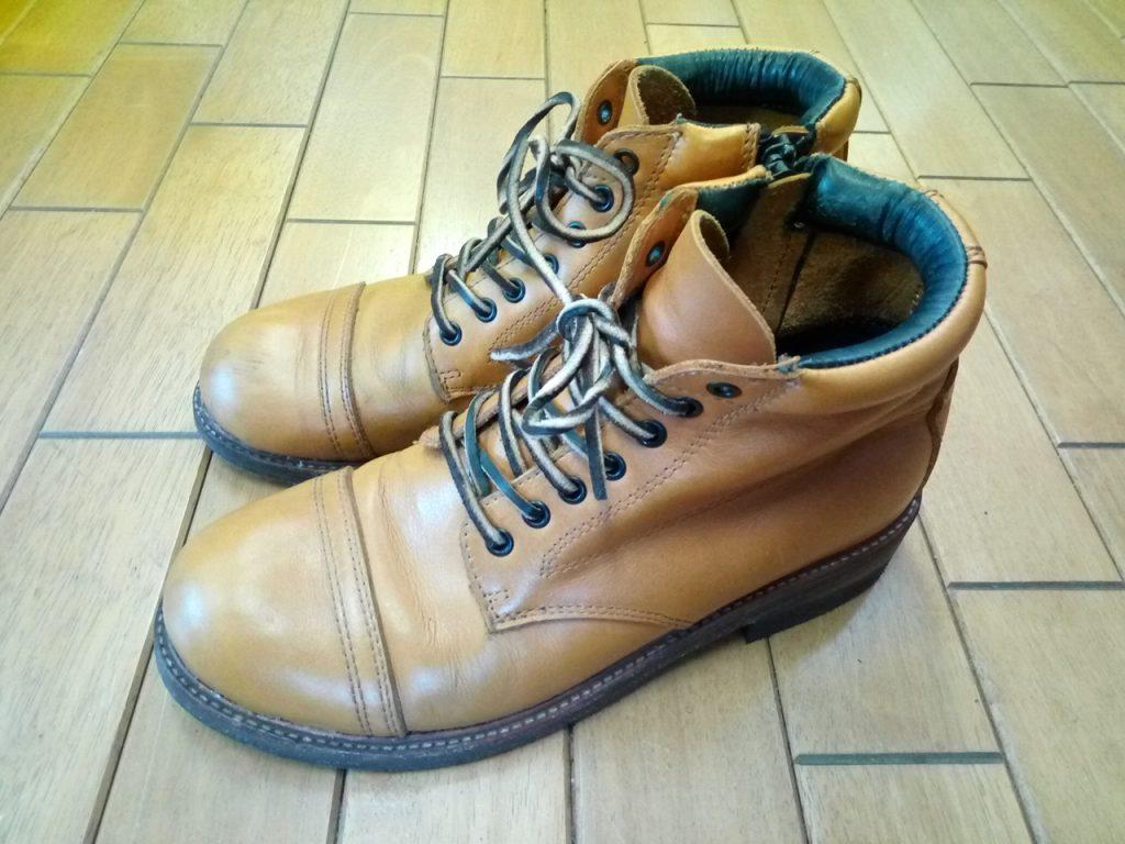 メンズのブーツのヒール交換の靴修理
