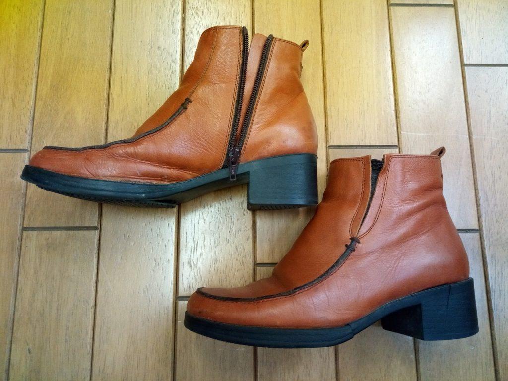 レディースブーツのオールソール交換の靴修理