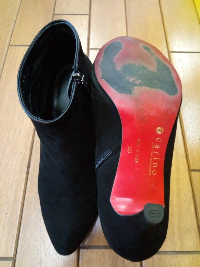 レディースブーツのヒールトップリフト交換の靴修理