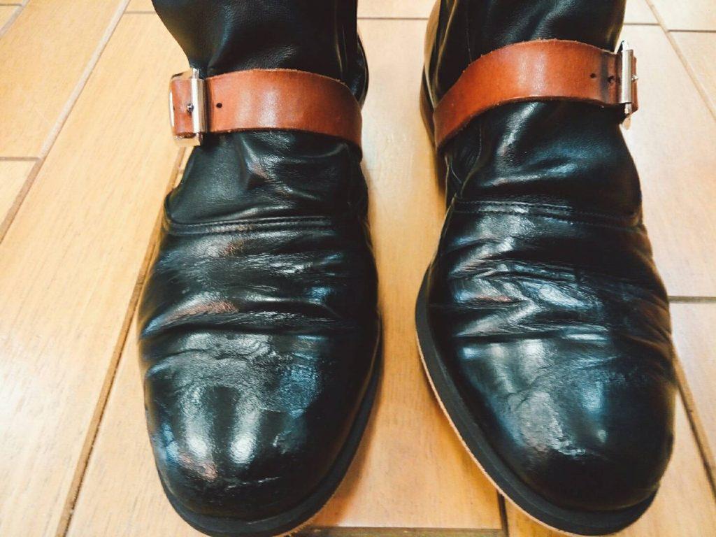 ヴィヴィアン・ウエストウッドのパイレーツブーツの靴修理2