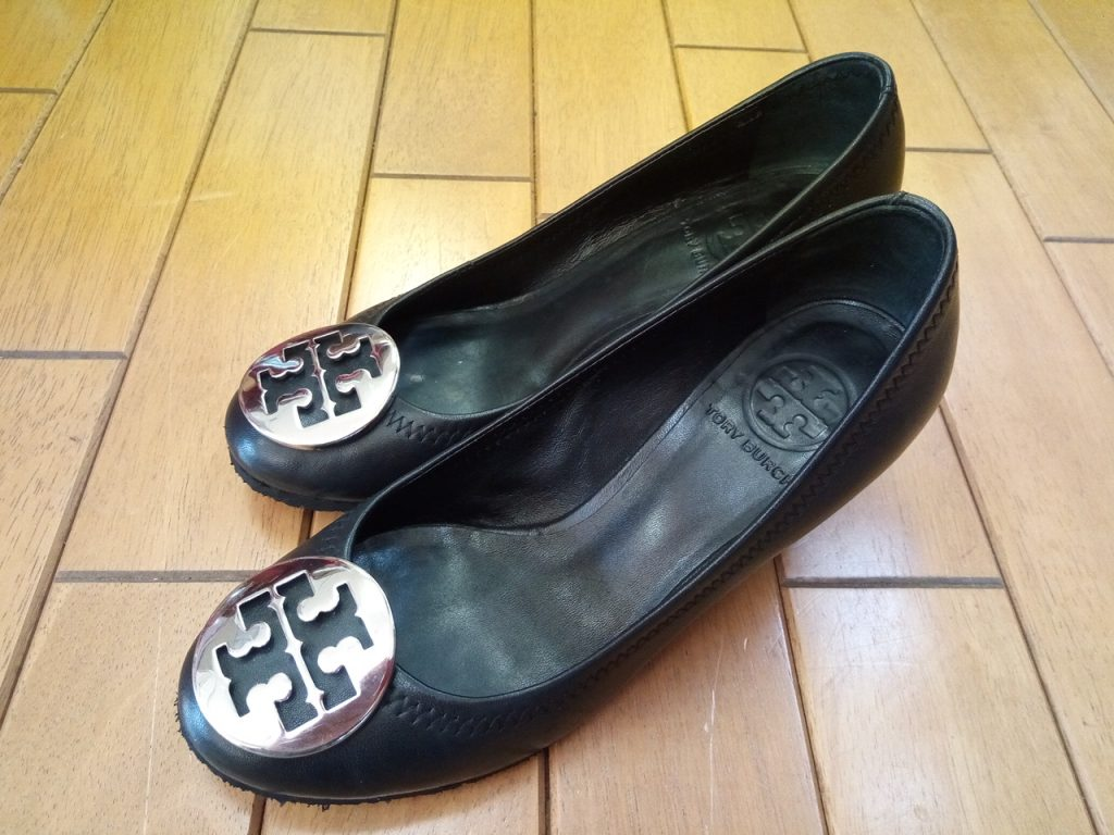 ウェッジソールのパンプスのオールソールの靴修理