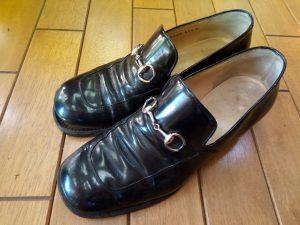 グッチのパンプスのオールソールの靴修理