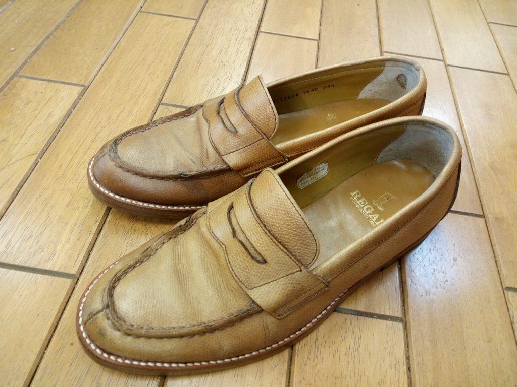 リーガルのローファーのオールソールの靴修理