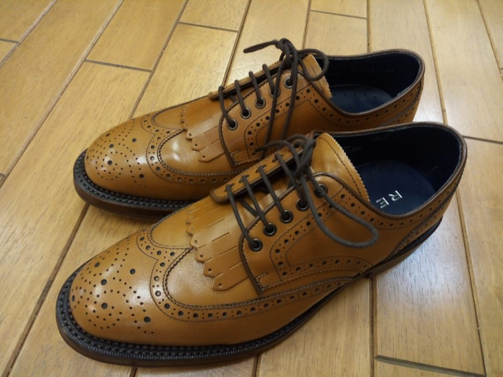 リーガルの靴のゴム半張りの靴修理