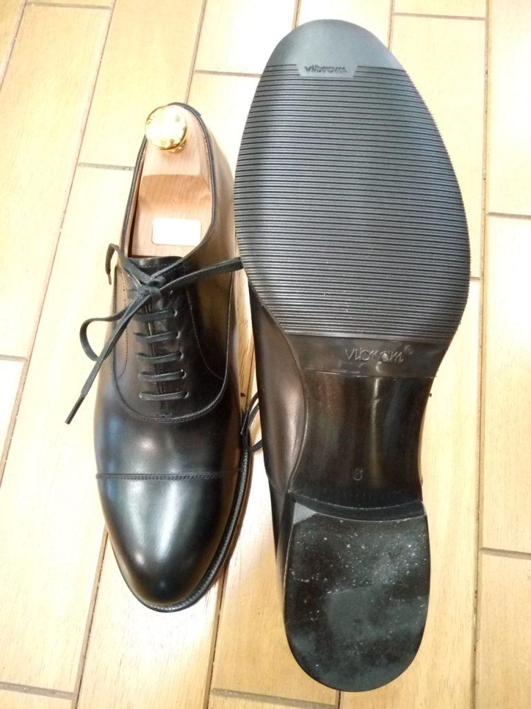 シェトランドフォックスのゴム半張り&ハイシャイン落としの靴修理